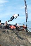 BMX Ereignis bei unnachgiebigem Boardmasters, Newquay Stockfotos
