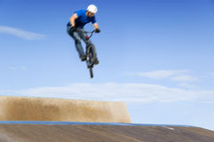 Bmx extreme big air Royalty Free Stock Image
