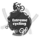 BMX Extreme Cycling Design Royalty Free Stock Image