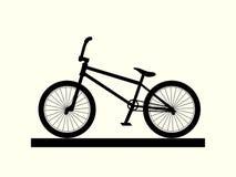 BMX-Fahrradschattenbild Lizenzfreie Stockbilder
