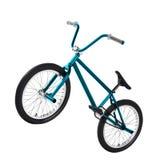 BMX-fiets die op wit wordt geïsoleerd stock foto's