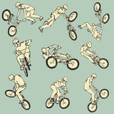 BMX Free style sport collection Royalty Free Stock Photos