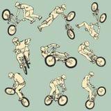 BMX frigör stilsportsamlingen Royaltyfria Foton