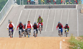 BMX game Royalty Free Stock Photo