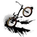 Bmx grunge background. Bmx bicycle and grunge splashes background Stock Illustration