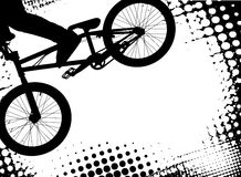 Bmx halftone background with copy space. Vector Royalty Free Stock Images