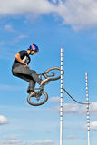 BMX high jump Stock Photo