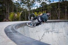 BMX jeździec zdjęcia royalty free