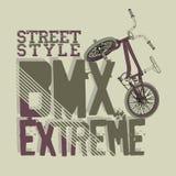 BMX Jeździecka wektorowa typografia Obraz Stock