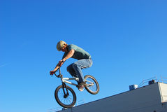 BMX jump Royalty Free Stock Photo