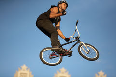 BMX jump athlete Ruslan Kutulbaev Stock Photo