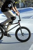 BMX jump. A young guy is riding his BMX bike Stock Photos