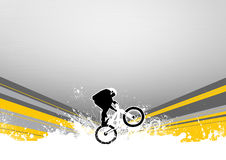 BMX jumping Stock Photography