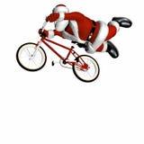 BMX Kerstman 2 Stock Afbeeldingen