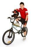 BMX Mitfahrer Lizenzfreie Stockfotos