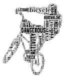 BMX na bielu Obraz Royalty Free