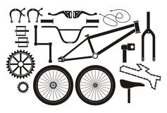 BMX parts - pictogram. Suitable for illustrations Royalty Free Stock Image
