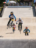 BMX race jump Stock Images