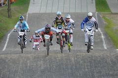 BMX Racing Polish Championship Royalty Free Stock Photos