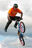BMX Rider Executes Midair Stunt At Georgia State Fair Royalty Free Stock Photos