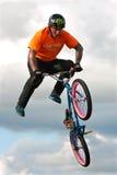 BMX Rider Executes Midair Stunt At Georgia State Fair Royalty Free Stock Photos