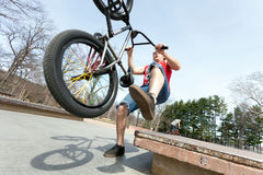BMX Rider Falling Stock Images