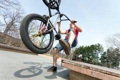 BMX Rider Falling Stock Images