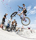 Bmx rider Royalty Free Stock Photo