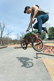 BMX Rider Jumping Stock Photos