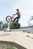 BMX Rider Jumping Stock Images