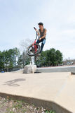 BMX Rider Jumping Royalty Free Stock Photo