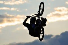 BMX Rider Making A Bike Jump Royalty Free Stock Images