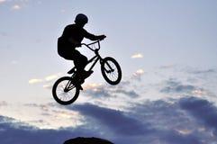 BMX Rider Making A Bike Jump Stock Photos