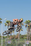 BMX rider making a bike jump during DUB Show Tour Royalty Free Stock Photo