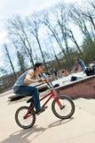 BMX Rider Riding Imagen de archivo libre de regalías