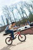 BMX Rider Riding Royalty Free Stock Image