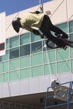 BMX rider stunt Royalty Free Stock Photography