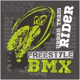 BMX rider - urban team. Vector design. BMX rider - urban team. Freestyle bike trial. Vector illustration Stock Image