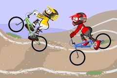 BMX riders competing in the child class Stock Photography