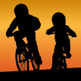 Bmx riders Royalty Free Stock Photo