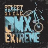 BMX Riding vector Typography Royalty Free Stock Photos