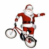 BMX Santa 1 Fotografia Stock Libera da Diritti