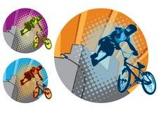 BMX skok Zdjęcia Royalty Free