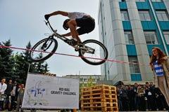 BMX-Sprung Lizenzfreies Stockfoto