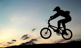BMX-Sprung Stockbild