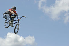 BMX Stunt Biker Hector Restrepo Royalty Free Stock Images