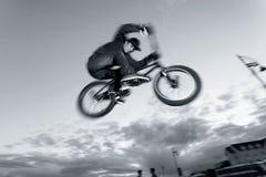 BMX stunts at the street Stock Photos