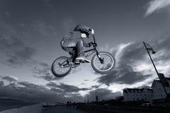 BMX stunts at the street Stock Photo