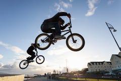 BMX stunts at the street Stock Image