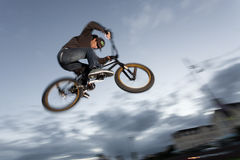 BMX stunts at the street Stock Photography